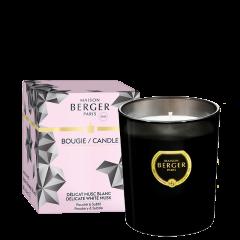Bougie parfumée Black Crystal Délicat Musc Blanc